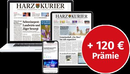 24 Monate den Harz Kurier auf Ihrem Tablet lesen!